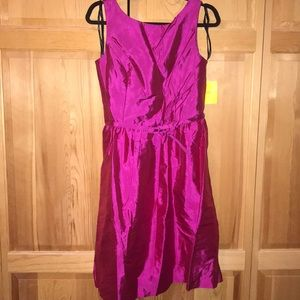 Alfred Sung Belted Dress Size 12 Cerise